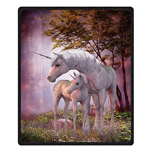Stillshine Manta de Sofá y Cama de Microfibra de Poliéster, Suave, Cálida,3D Galaxia Unicorn Estilo Manta para Niños (Unicornio, 185 x 220 cm)