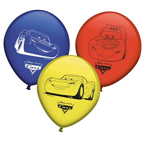 Pack 8 Ballons Disney Autos, Pack 8 Ballons für Partys Disney Autos ()