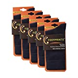 FootPrints Organic Cotton Bamboo Men's Formal Socks (Pack of 5 Pairs) -Navy