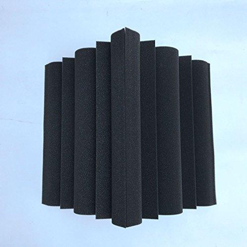 SODIAL 4 piezas Corner Bass Trap Panel acustico Studio Sound Absorption Foam 12 x 12 x 24cm