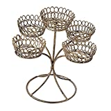 F Fityle Cupcake Ständer, Edelstahl Tortenständer Bronze