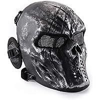 Wwman - Máscara táctica de cara completa para airsoft, paintball y juegos de guerra,