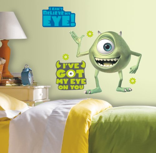 Image of RoomMates Giant Children's Repositonable Disney Wall Stickers Monsters Inc. Mike, Multi-Color