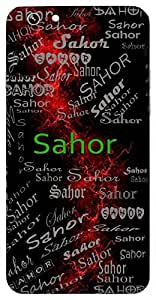 Sahor (Good Excellent Pious) Name & Sign Printed All over customize & Personalized!! Protective back cover for your Smart Phone : Samsung Galaxy ON-7