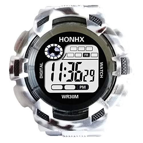 Uhren Herren Sport Uhr uarz Warnungs Datums Sport Armbanduhr der Art und Weisemänner Digital LED Mode Klassisch Uhr Analoge Quarz Armbanduhr,ABsoar