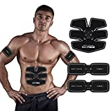 IMATE Ab Trainer Ab Toning Belt for Man or Woman Slender Toned Stomach Muscles - USB Charging for Convenient and Easy Using