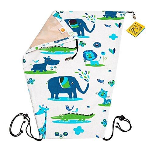 """1510 - millemarille Sonnensegel """"juicy jungle"""" I UPF 80 I passt auf jeden Kinderwagen I Ökotex I Tiere, Löwe, Elefant, Krokodil"""