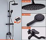 schwarze biume shower set - familie europäischen kupfer bad dusche badezimmer - set regen sprinkler,b