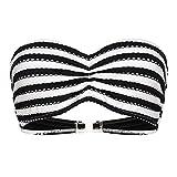 Seafolly C 2 C Bust Bandeau Bikini Top - Black & White