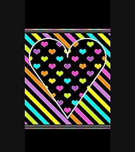 Fiobs Designer Back Case Cover for Apple iPhone 6 (Heart Dil Black Romance Love Pyar Romantic Stripes)