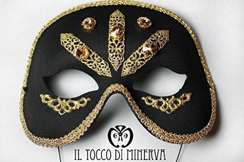 Maschera swarovski filigrana lucy - realizzati a mano - made in italy-handamade-regali ragazza-prodotto artigianale-idee regali originali-regali di natale-regali per lei-regali di carnevale