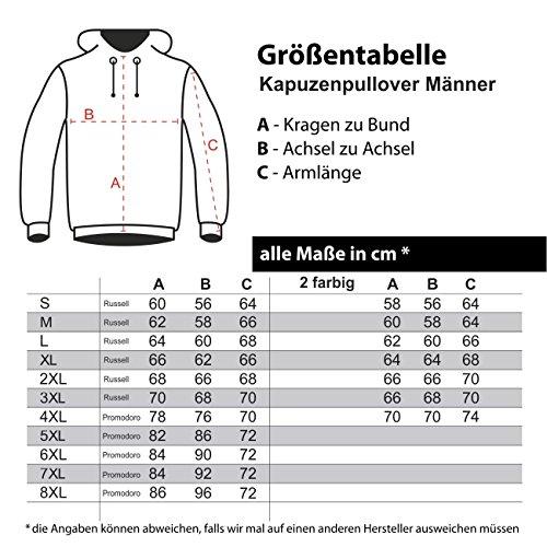 Männer und Herren Kapuzenpullover La Familia Loyalität (mit Rückendruck) Größe S - 8XL schwarz/graue Kapuze