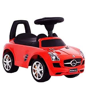 Rutschauto Rutscher Mercedes SLS AMG Lizenz Kinderauto Auto Baby Neu (Rot)