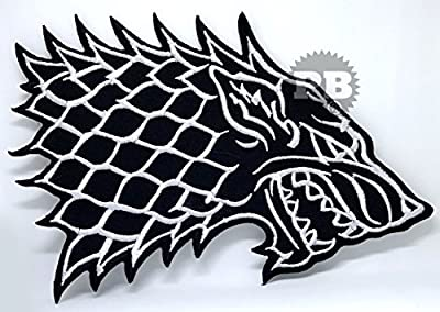 Game of Thrones House Stark Direwolf Iron Sew on Embroidered Patch
