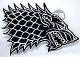 Game of Thrones Haus Stark Direwolf Eisen nähen auf bestickt Patch