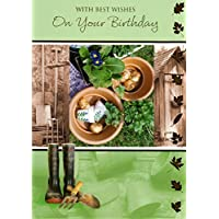 With Best Wishes On Your Birthday - Gardener Greeting Card