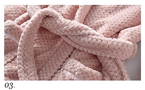 Donna Primavera Pajamasyso Inverno A Maniche Lunghe Sexy Accappatoio Rosa Home Service Cashmere Di Corallo Pink