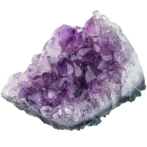 Price comparison product image mookaitedecor Natural Amethyst Healing Crystal Cluster, Reiki Gemstone Specimen Figurine Home Decor(approx 200-300g)