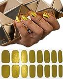 Constant Love® Damen Beauty Wraps Nagelfolie Set Gold JGA - Braut und JGA Bridal Party Gold (Gold)
