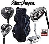 MacGregor Antwort Deluxe Herren Stahlschaft Golf Set & TP12018schwarz/charcoal Cartbag Herren Rechte Hand