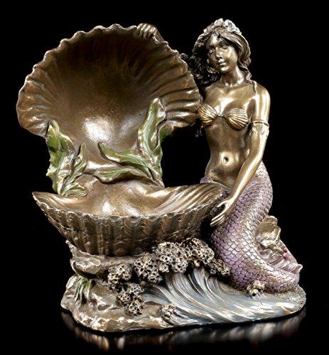 Jugendstil Meerjungfrauen Figur mit Muschel - Veronese Art Nouveau