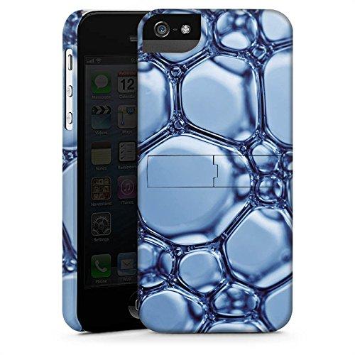 Apple iPhone 4 Housse Étui Silicone Coque Protection Eau Water Bulles CasStandup blanc