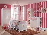 möbel-direkt Babyzimmer Cindy komplett Sets Verschiedene Ausführungen (3 teilig mit 2 türigem Schrank)