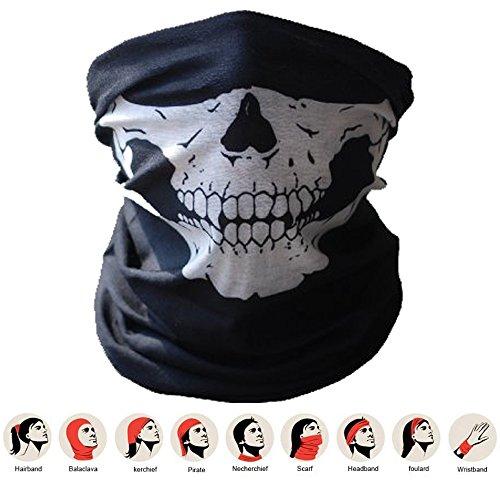 Balaclava/Bandana/Scarf/Bandana with Skull Skeleton Skull Masks for Cycling/Motorcycle Paintball Gamer Mardi Gras Costume ()