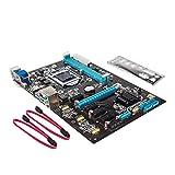 Gazechimp 1x Motherboard NB85 6 GPU LGA1150 2x Cable SATA 1x Placa de Metal para Bitcoin Miner