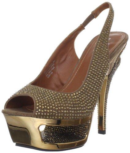 Pleaser Day & Night DELUXE-654RS Damen Strass High Heels Bronze