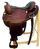 Westernsattel AUSTIN aus Büffelleder hoher Qualität Neu, Größe:17 Zoll