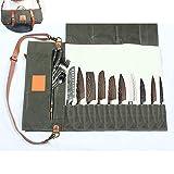 DHShop Chef Strumento di Archiviazione Canvas Bag Roll-On Portatile Bag Coltello Cinese E Occidentale Food Kitchen Kit Chef