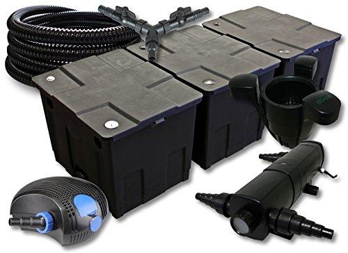 set-di-filtri-per-90000l-sunsun-pompa-stagno-con-18-w-laghetti-e-100-w-eco-25-m-tubo-skimmer-sk40
