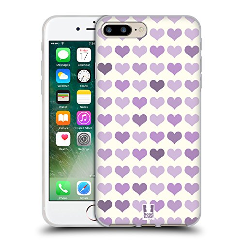 Head Case Designs Favoloso Sirene Affascinanti Cover Morbida In Gel Per Apple iPhone 7 Plus / 8 Plus Violetto