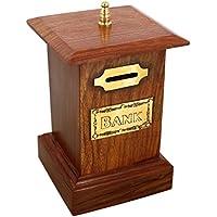Coin Box risparmio ShalinIndia mano indiana Bank Money - Banche per bambini e adulti - vacanze Legno Piggy Bank