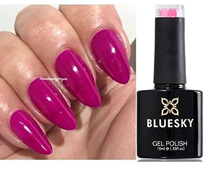 Bluesky Temptation Deep Pink Fuchsia Nail Gel Polish UV LED Soak Off 10ml PLUS 2 Homebeautyforyou Shine Wipes