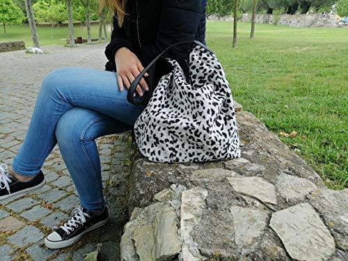 White Leopard Tote Bag, Geschenk für sie, Handtasche, Rope Beach Bag, portugiesische Marke, Womans Bag, Pool Bag, Einkaufstasche, Strandtasche
