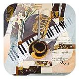 Horloge murale Tour Du Monde Marke Peinture Trompette Piano PublicitÈ Imprimee Plexiglas 25x25 cm