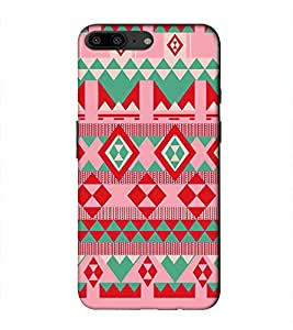 PrintVisa Designer Back Case Cover for OnePlus 5 :: OnePlus Five :: One Plus 5 (Pink White Green Rectangle Lovely)