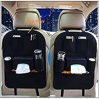 PRIKNIK Car Seat Back Multi Pocket Storage Bag Organizer Holder Hanger Accessory -Honda City Type 5 (2014-2015)