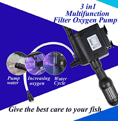 INOVEY 3 In 1 Aquarium Wave Maker Internen Filter Sauerstoff Wasserpumpe Fish Tank Multifunktions-Pumpe - 30W - 2000L (Aquarium Interne Filter)