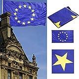 BestYT 12 Yellow 3ft European x Flag Stars Union Print EU 5.1ft
