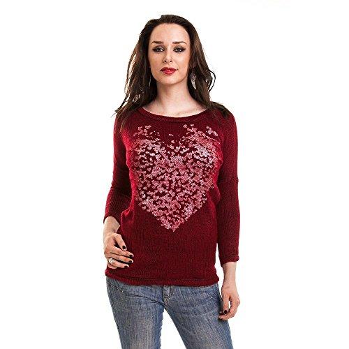 Innocent Lifestyle -  Maglione  - Maniche lunghe  - Donna rosso X-Large