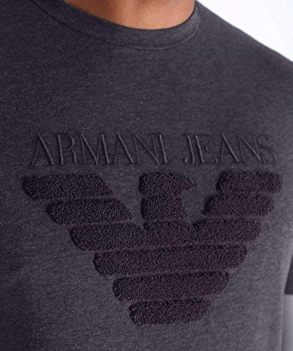 Armani Jeans Uomo girocollo logo t-shirt Grigio Grigio
