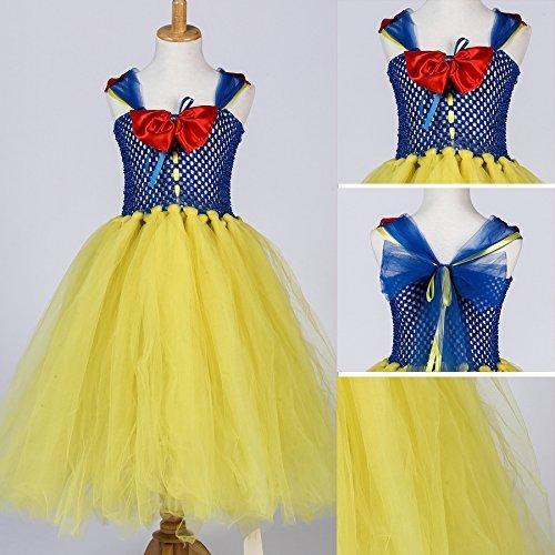 handgefertigt Snow Princess Tutu Kostüm, Cosplay Halloween Geburtstag Party Kleid Fancy Kleid (Princess Tutu Halloween Kostüm)