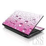 """LSS–Skin para ordenador portátil tienda LSS 15""""y 15,6pulgadas portátil notebook piel Sticker Cover Art vinilo para 13.3"""" 14""""15.6"""" 16""""HP Dell Lenovo Apple Asus Acer Compaq (libre 2muñeca incluye almohadilla) rosa gotas de agua"""