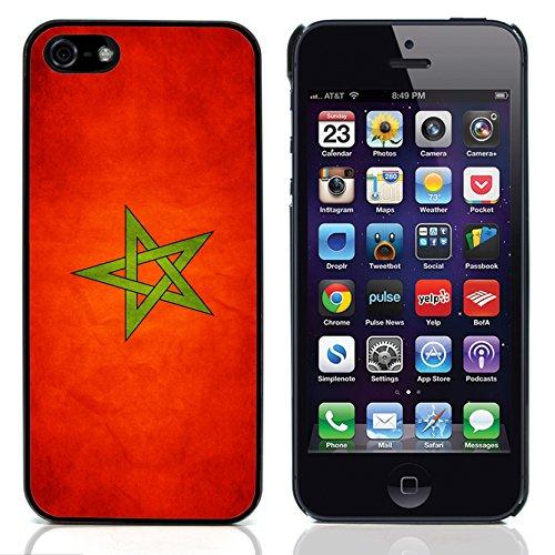 Graphic4You Vintage Uralt Flagge Von Palästina Palästinenser Design Harte Hülle Case Tasche Schutzhülle für Apple iPhone 5 und 5S Marokko Marokkanisch