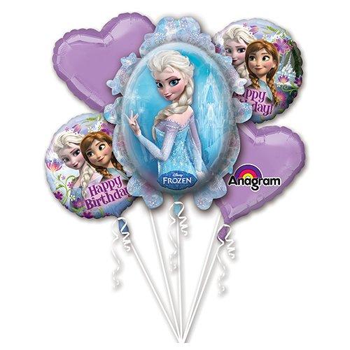 Anagram Folienballon Bouquet 2901101Frozen Geburtstag, farbenreiche