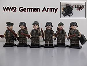 Kitoz Minifgures WW2 Soldiers Germany Army with Weapons