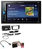 caraudio24 Pioneer MVH-A100V 2DIN MP3 USB Aux Autoradio für Mercedes C-Klasse 2007-2011 Tasten